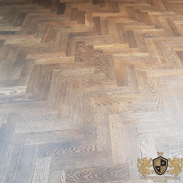 230x70mm Unfinished Solid Oak Parquet Herringbone Wood Flooring