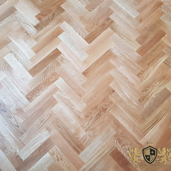 250x65mm Unfinished Solid Oak Parquet Herringbone Wood Flooring