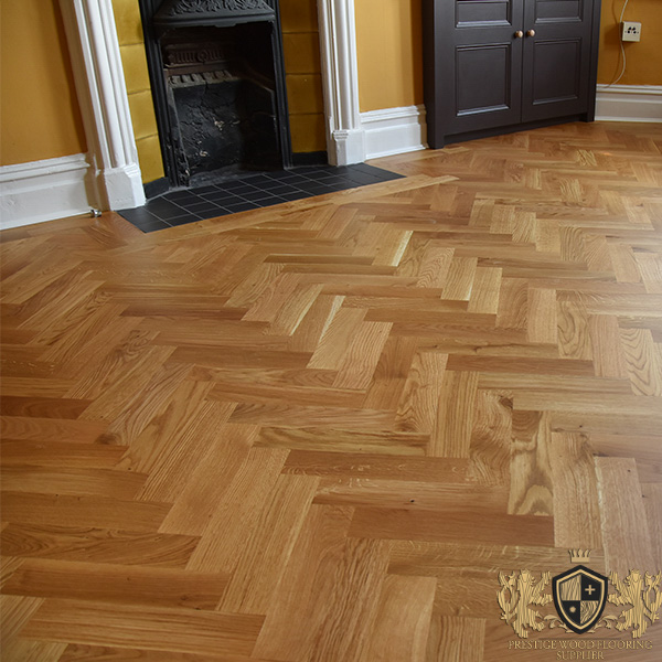 250x65mm Unfinished Solid Oak Parquet Herringbone Wood Flooring Block 10mm Thickness