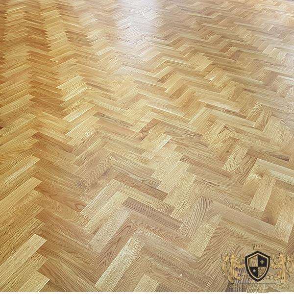 300x70mm Unfinished Solid Oak Parquet Herringbone Wood Flooring