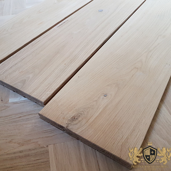 160mm Unfinished Solid Oak Wide Planks 20mm Thickness Prestige